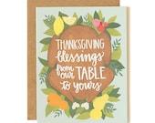 Thanksgiving Blessings Illustrated Card // 1canoe2