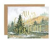 Calm & Bright Landscape // Boxed Set of 8 // 1canoe2