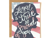 SALE // Loyal & True So Proud of You Illustrated Card // 1canoe2