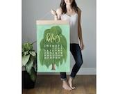 2020 XL Wall Calendar: Getaways *Refill* // 1canoe2 //Hand illustrated