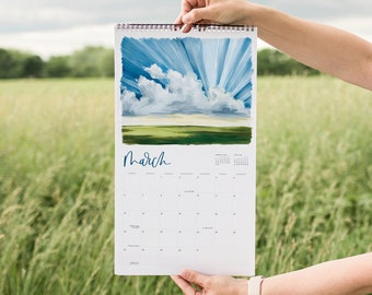 2022 Land & Sky Appointment Calendar // 1canoe2 // Hand illustrated