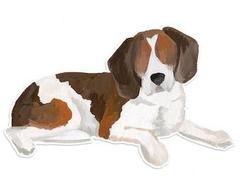 Beagle Vinyl Die-Cut Sticker | 1canoe2
