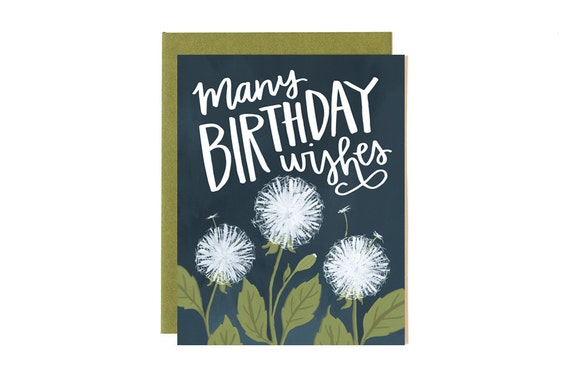 Many Birthday Wishes Illustrated Card // 1canoe2