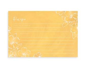Golden Poppy Recipe Cards Set of 15 // 1Canoe2 // hand-illustrated