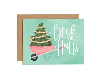 Deck the Halls Illustrated Card // 1canoe2