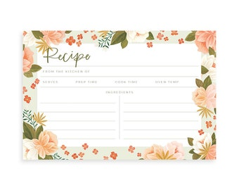 Palm Spring Recipe Cards Set of 15 // 1Canoe2 // hand-illustrated