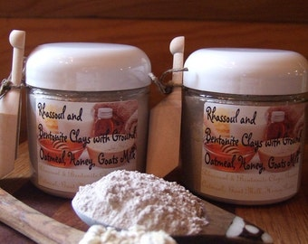 RHASSOUL and BENTONITE CLAY with Ground Oatmeal Goats Milk and Honey