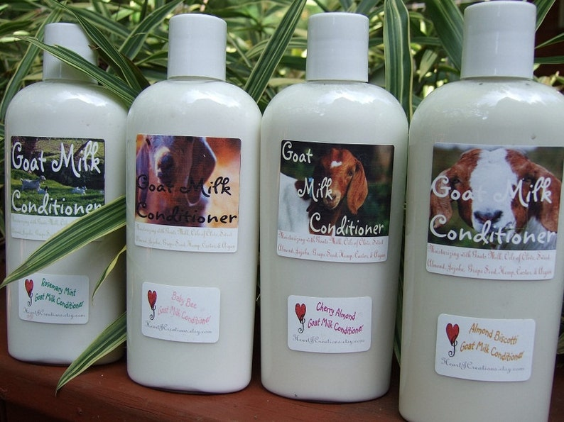 Goat Milk Conditioner  All natural Creamy Goat Milk image 1