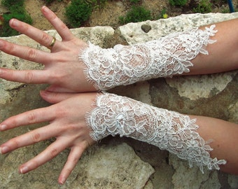 Egyptian Bellydance ןהםרט bridal lace cuffs bridal cuffs bridal gloves wedding cuffs wedding gloves cuffs