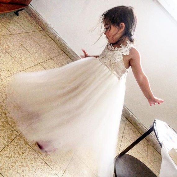 e4c9ac035dcd3 New 2019 ROYALTY ivory Flower Girl Dress, First communion dress, holy  Communion Dress