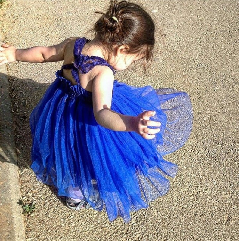 485ddc52a14a0 Royal Blue Flower Girl Dress Dresses Girls Jr Bridesmaid | Etsy