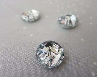 12 x Acrylic faceted Buttons - Crystal Buttons - 1.5 cm - Bling Sparkly  Round Buttons f3dbe788e24a