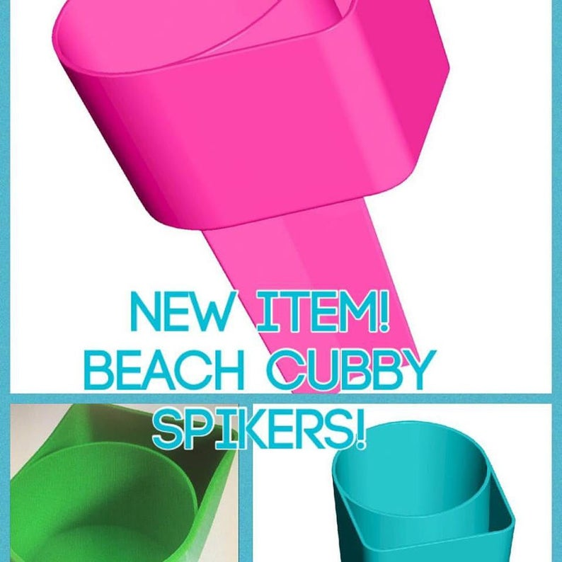 Beach Spiker Drink Holder Sand Spike Cell Phone Pocket image 0