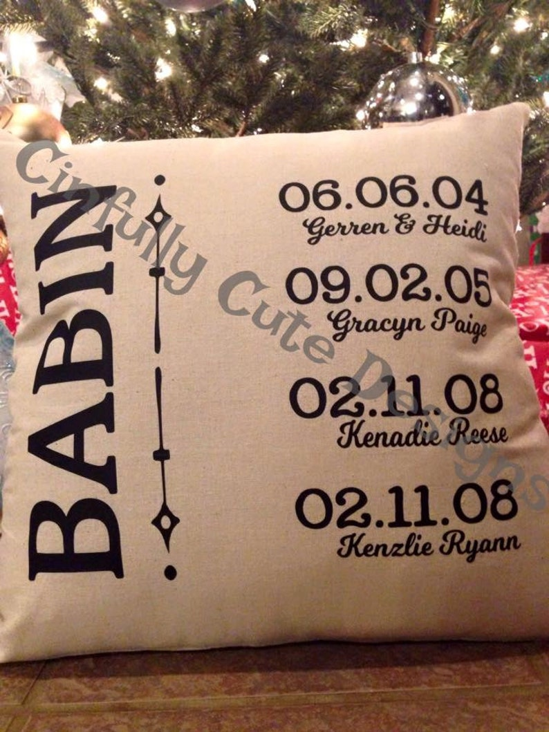 Personalized Pillow Cover Custom Family Name Dates Gift Under image 0