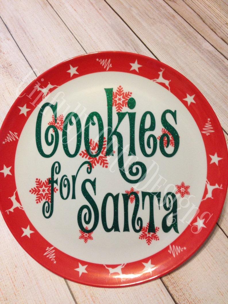 Cookies for Santa plate image 0