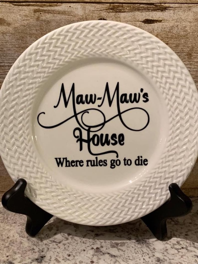 Rules Go to Die Decorative Plate image 0