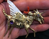 Pegasus Unicorn Flying Magic Horse Necklace Pendant and Brooch Pin by RXVrings BR019