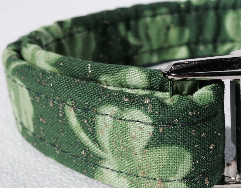 St Patrick/'s Day Emerald Isle Dog Collar by Swanky Pet