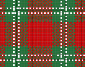 Oliver Tartan Charted for Needlepoint or Cross Stitch