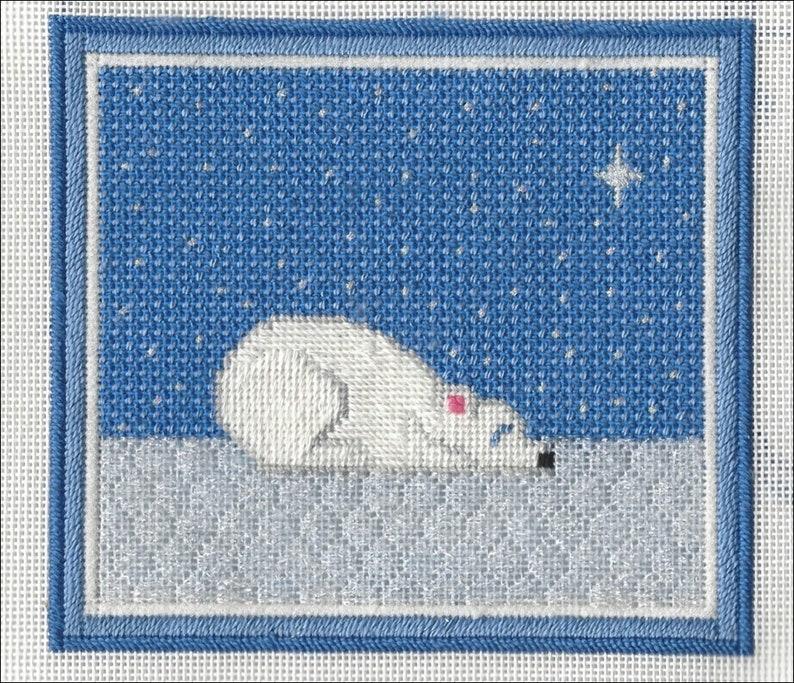 Polar Bear Cub Needlepoint Stitch Guide