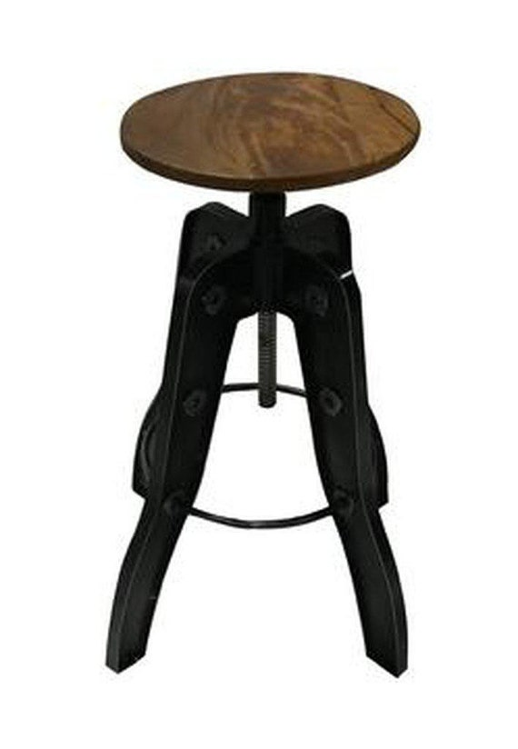 Astonishing Industrial Adjustable Metal Bar Stool Counter To Bar Height Pdpeps Interior Chair Design Pdpepsorg