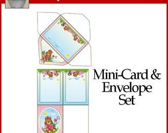 Love Bears Mini-Card and Envelope Set Printable Valentine