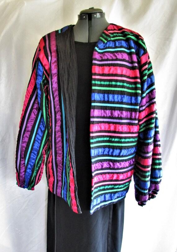 Vintage 1980's Jacket Tachi Castillo Mexican Ribbo
