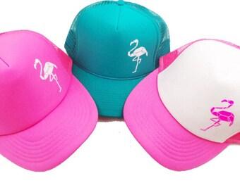 527a3d21090 Neon Pink Trucker Hat