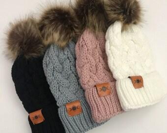 Women s Knit Pom Beanie 35cf5fe564b