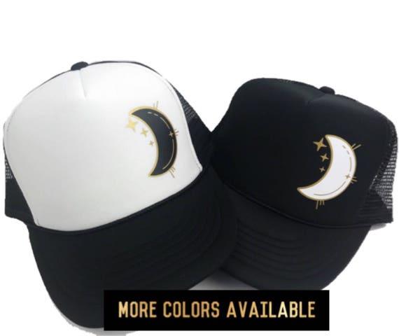 8ac0fe3a6d3 Women s Hat Moon Trucker Hat Space Hat Crescent Moon