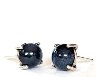Sapphire Post Earrings