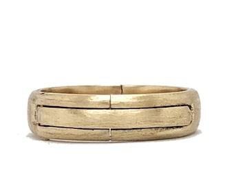 Gold Hinged Ring, Domed Band