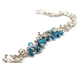 Sterling Silver Bracelet with Apatite