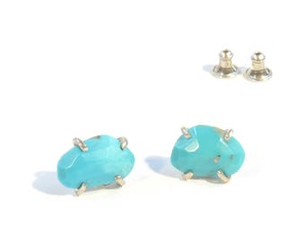 Turquoise Polki Earrings