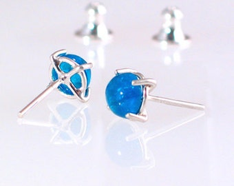Neon Blue Apatite Earrings