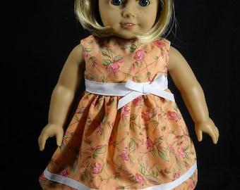 """N-Handcrafted Floral Batik-looking Romper fits 18/"""" dolls ie American Girl"""