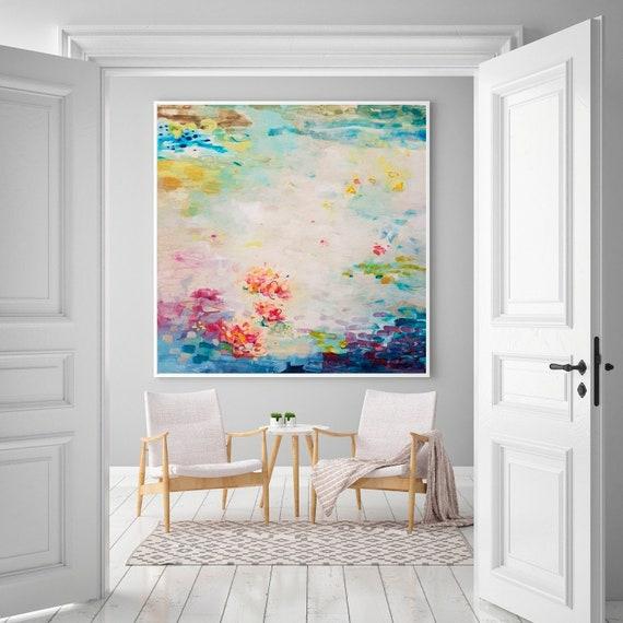 Abstrakte Malerei Druck Impressionismus Wohnzimmer Wandkunst | Etsy