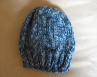 Hand Knit toddler hat, size 2 - 5, great photo prop