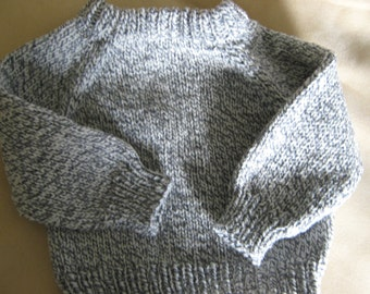 knit baby sweater, warm, size 6 - 12 months