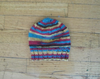 acrylic Baby Hat - 0 - 6 months Hand knit
