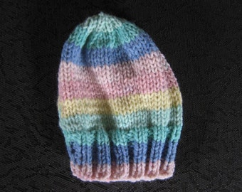 Baby Hat Acrylic blend size 0 - 3 months  Hand Knit