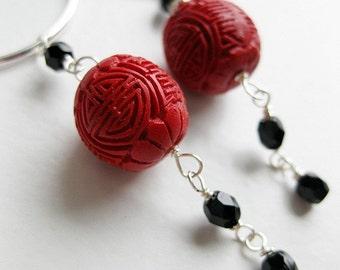 On sale - Chinese Lantern Earrings