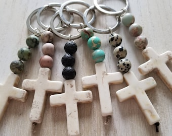 cross keychain baptism favors mini rosary favors religious gifts for teachers rosary gift communion gift christmas gift for him