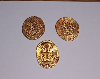 Gold Doubloon Replica Coins