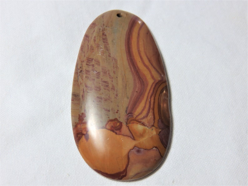 Natural Smooth Wonderstone Large Oval Shape 30x58mm Pendant