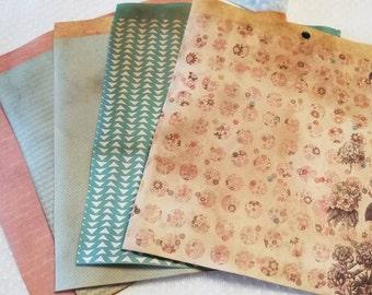 Sun Drifter Junk Journal Vintage Ephemera Kit Traveler's Notebook Supplies
