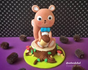Adorable Squirrel Cake Topper