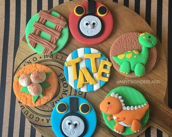 Thomas and Friends and Dinosaur Cupcake Topper