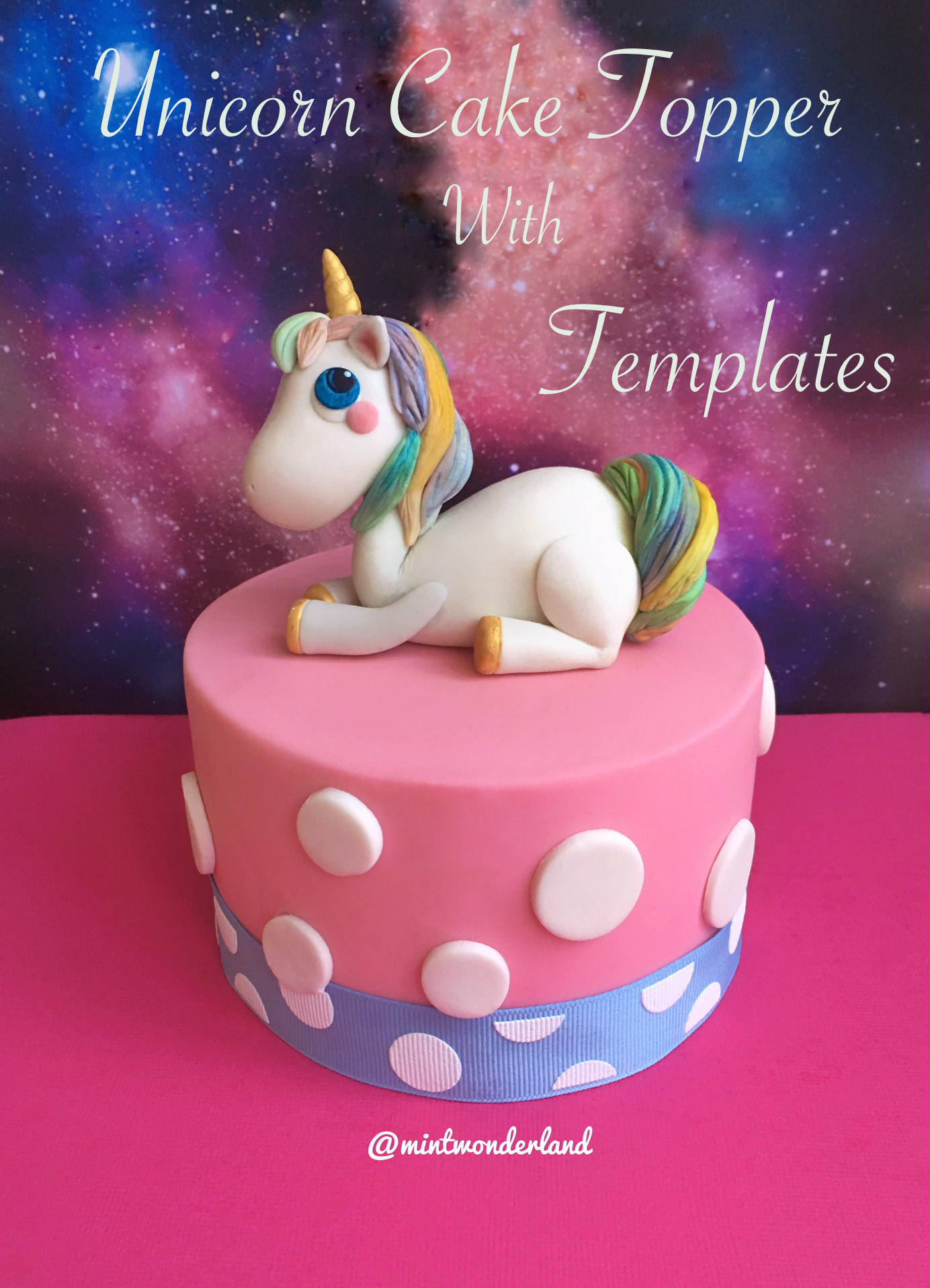 Magical Unicorn Cake Topper with Templates Tutorial PDF | Etsy