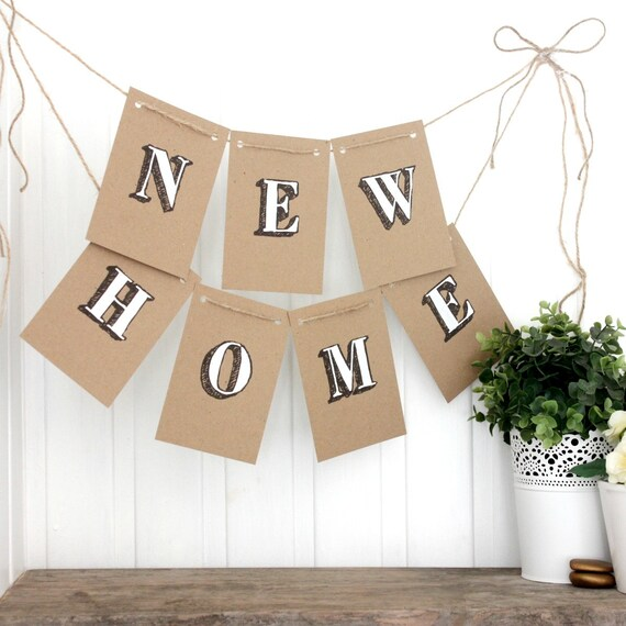 New Home Garland Bunting New Home Bunting New Home Banner Etsy